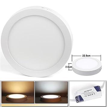 LED Panel Dimmbar Deckenleuchten Leuchte Rund Deckenlampe Aufputz ...