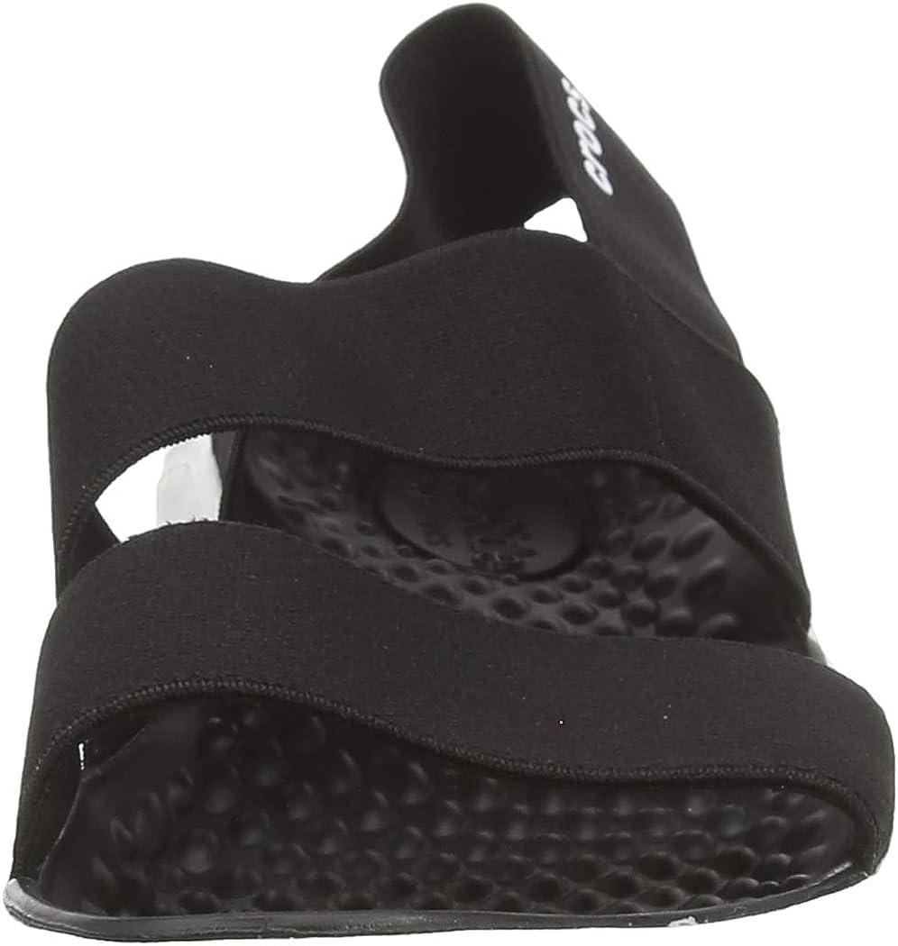 Crocs Literide Stretch Sandal Women, Bout Ouvert Femme Noir Black White 066