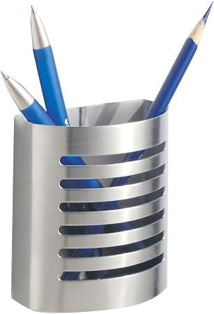 iDesign Organizador de escritorio con imán, portalápices magnético de acero para la nevera, vaso con imán para lápices y otros utensilios, plateado mate: Amazon.es: Hogar