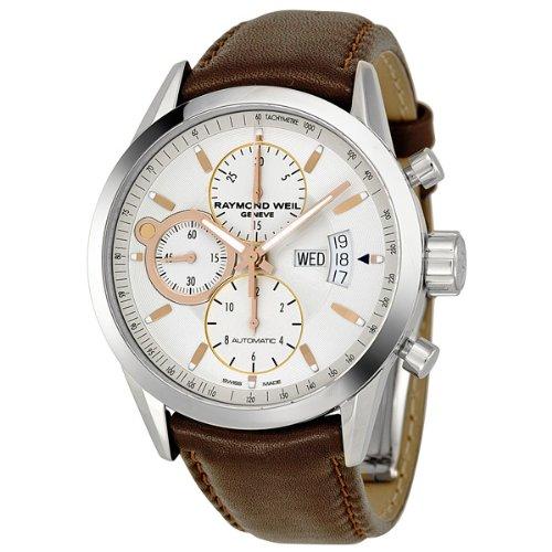 Raymond Weil White Wrist Watch (Raymond Weil Freelancer White Dial Chronograph Automatic Men's Watch 7730-STC-65025)