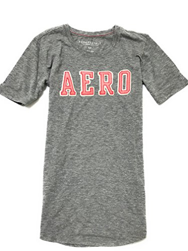 Aeropostale Women's Graphic Tee Shirt With Aero Logo Style 3574 (X-Large, Grey 053) (Aeropostale Clothing)
