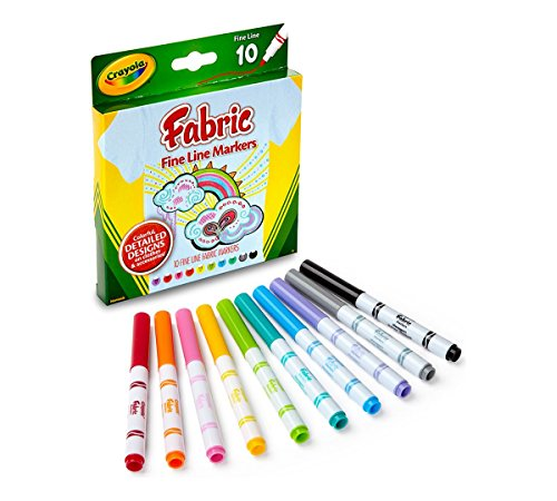 Crayola 588215 Fabric Marker Classpack, Ten Assorted Colors, 80 Markers Set ,10 by Crayola (Image #1)