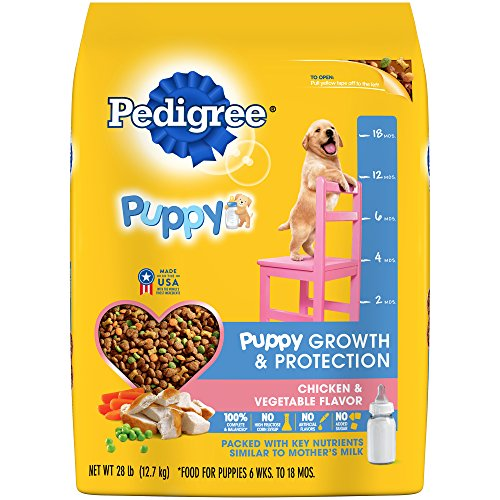 PEDIGREE PUPPY Growth and Protection Chicken & Vegetable Flavor Dry Dog Food; 100% Complete and Balanced, for wellness and whole body health