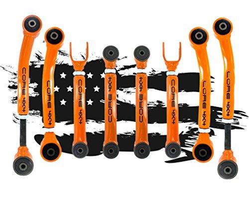 Jeep Wrangler TJ - LJ 1997-2006 Complete Control Arm Set TIER ONE, Black LIFETIME REPLACEMENT - Control Set Arm
