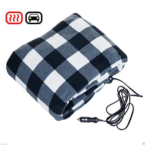 Woolala 12V Car Electric Heated Blanket, Travel Blanket for
