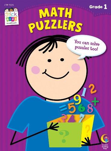 Math Puzzlers Stick Kids Workbook, Grade 1 (Stick Kids Workbooks)