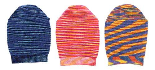 B.Ella Nouvella Women's Cotton Blend, Mule, Slide, Toe Cover Socks (3 Pr) USA Made, (Navy, Pink, - Usa Pr