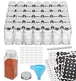 Aozita 36 Pcs Glass Spice Jars with 612 Spice