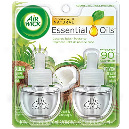 Air Wick Essential Oils Refill, Coconut Splash (2X.67) oz (Pack of 3)