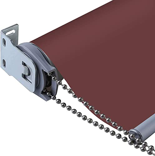 PASSENGER PIGEON Thermal Insulated 100 Blackout Waterproof Fabric Custom Window Roller Shades Blinds,20 W x 36 L, Wine