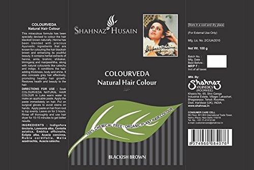 Shahnaz Husain Colourveda Herbal Ayurvedic Natural Hair Color Latest International Packaging (3.5 oz / 100 g)