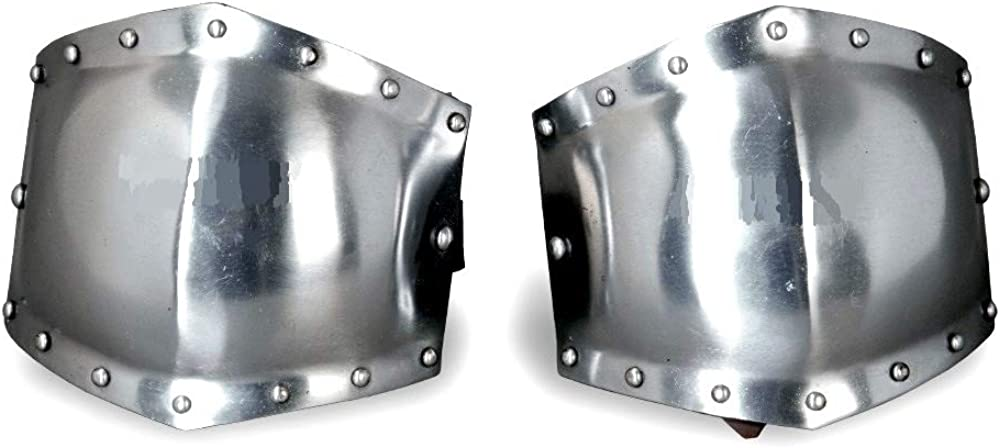 Steel armor arm guard with leather liner