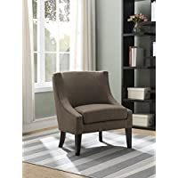 Kings Brand Furniture Brown Upholstered Fabric Oversized Accent Chair
