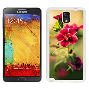 New Beautiful Custom Designed Cover Case For Samsung Galaxy Note 3 N900A N900V N900P N900T With Red Blurry Flower (2) Phone Case