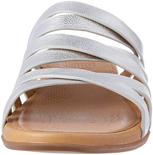 Slide Silver Women's fitflop Leather Lumy qxvxYF