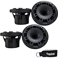 MB Quart Two pairs of NH1-116B two way 6.5 inch Compression Horn Speakers with poly cones (Black)