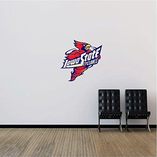 Iowa State Cyclones NCAA USA Combo Logo College Sport Art Wall Decor Sticker 22'' x 22''