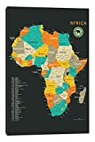 iCanvasART Africa Map Canvas Print by Jazzberry Blue, 40'' x 0.75'' x 26''