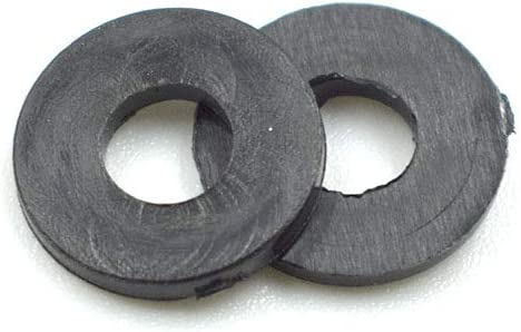 TUOREN M4 x 10 x 1mm Black Nylon Flat Insulating Washers Gaskets Spacers-150pcs