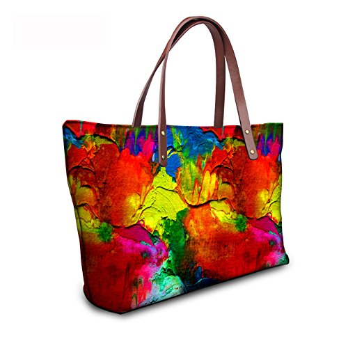 Satchel leather Purse Foldable Top C8wc2802al Wallets Bags FancyPrint Women Handle Handbags 8xwRw