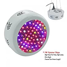 RAYWAY 216W Full Spectrum UFO Led Grow Light , Led Plant Growing Flowering Lamps with UV IR for Indoor Garden Hydroponic System Greenhouse