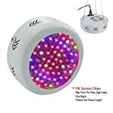 RAYWAY 216W Full Spectrum UFO Led Grow Light , Led Plant Growing Flowering Lamps with UV/IR for Indoor Garden Hydroponic System Greenhouse