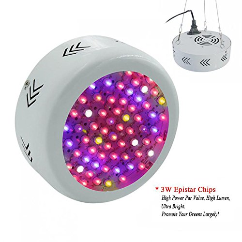 Buy now RAYWAY 216W Full Spectrum UFO Led Grow Light , Led Plant Growing Flowering Lamps with