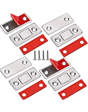 Cabinet Magnetic Catch Jiayi 4 Pack Ultra Thin Cabinet Door Magnetic Catch for Drawer Magnets Adhesive Cabinet Latch Magnetic Closures for Kitchen Closet Door Closing Magnetic Door Catch Closer