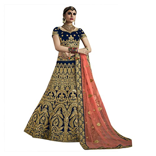 Cotton Chaniya Cholis (Velvet Bridal Wedding Designer Bollywood Women Lehenga Choli Dupatta Ceremony Chaniya Choli Collection 721 7)