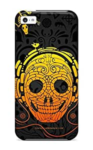 Fashionable Style Case Cover Skin For Iphone 5c- Music Art