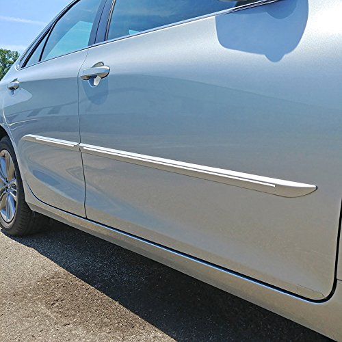 (Dawn Enterprises CF7-CAM12 Custom Chromeline Body Side Molding Compatible with Toyota Camry - CELESTIAL SILVER)