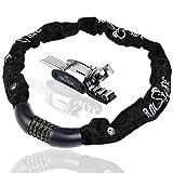 Combination Bike Lock High Cutting Resistance, Anticorrosive Heavy-Duty Bikes Chain Lock, Keyless 5