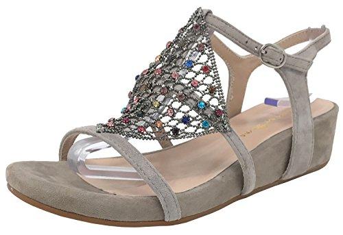 Alma Pena V18436 Beige Suede Sandals Taupe en in Soul PENA g5xqxnAYrw