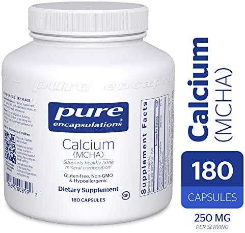 Pure Encapsulations - Calcium MCHA - Hypoallergenic Supplement for Bone Support - 180 Capsules