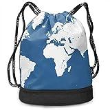 Best World Traveler Overnight Business Travel Bags - YyTiin Maps World Map Men Women Waterproof Drawstring Review