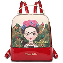 Frida Kahlo Cartoon Collection Cute Backpack with Metal Handle