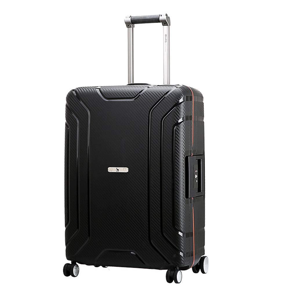 GLJJQMY 旅行スーツケース屋外旅行ビジネス旅行大容量トロリーケース新しいPP素材ビジネススーツケース トロリーケース (Color : Black, Size : 44x24x61cm) B07SCJQ4LT Black 44x24x61cm
