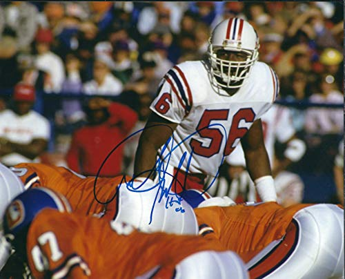Autographed Andre Tippett 8x10 New England Patriots Photo.