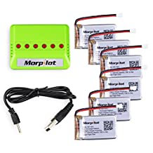 Morpilot® 6pcs 3.7V High 720mAh 20C Lipo Batteries for Syma X5C X5SW X5SC X5A X5