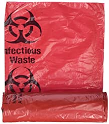 Medical Action Infectious Waste Bag, Red...