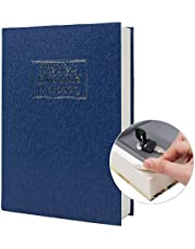 Real Paper Diversion Book Safe Storage Box, Dictionary Secret Safe with Code Lock/Key, flip Book Hidden Safe