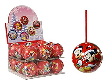 Mickey And Minnie Mouse Christmas Tree Decorations.Disney Mickey Minnie Mouse Filled Baubles Amazon Co Uk