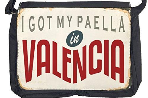 Borsa Tracolla Retro Arte Metropole Valencia Spagna Stampato