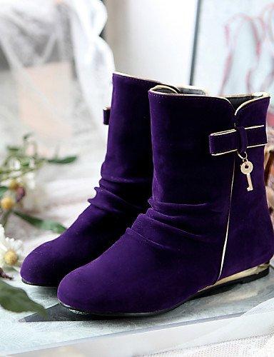 y 5 cn39 Casual purple Botas eu39 mujer purple Trabajo Oficina Zapatos Exterior us6 Vestido Sintético Punta 7 de Redonda Tacón us8 Punta Ante XZZ uk cn37 eu39 Plano 5 Cerrada uk6 5 us8 eu37 brown uk4 B7ZCxqZU