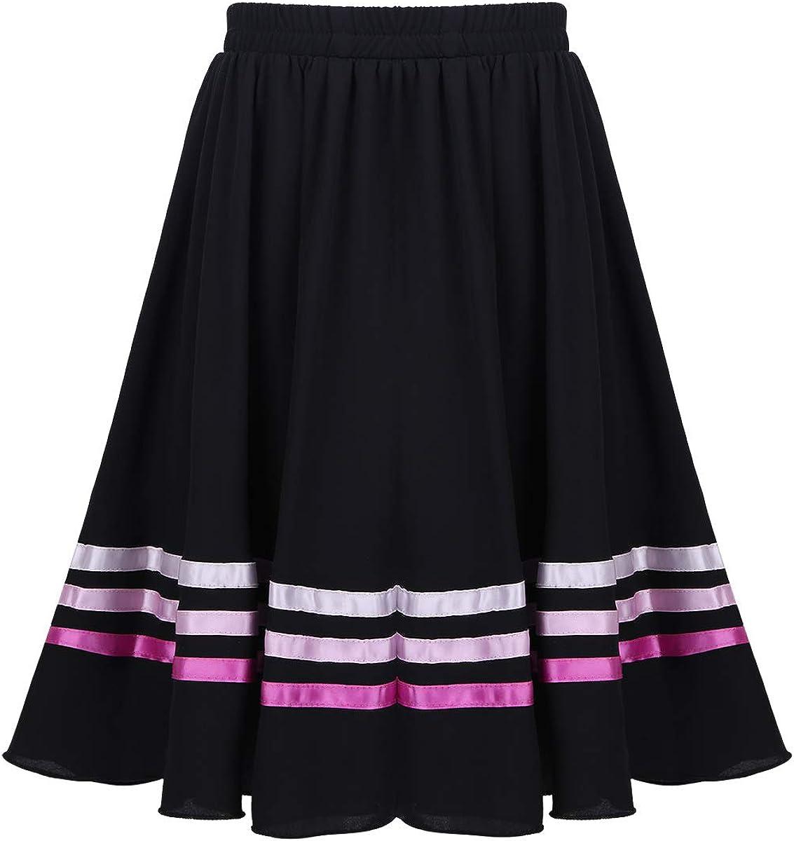 moily Big Girls Vintage Full Circle Dance Skirt Ballet Character Praise Dancewear Summer Casual Wear: Clothing