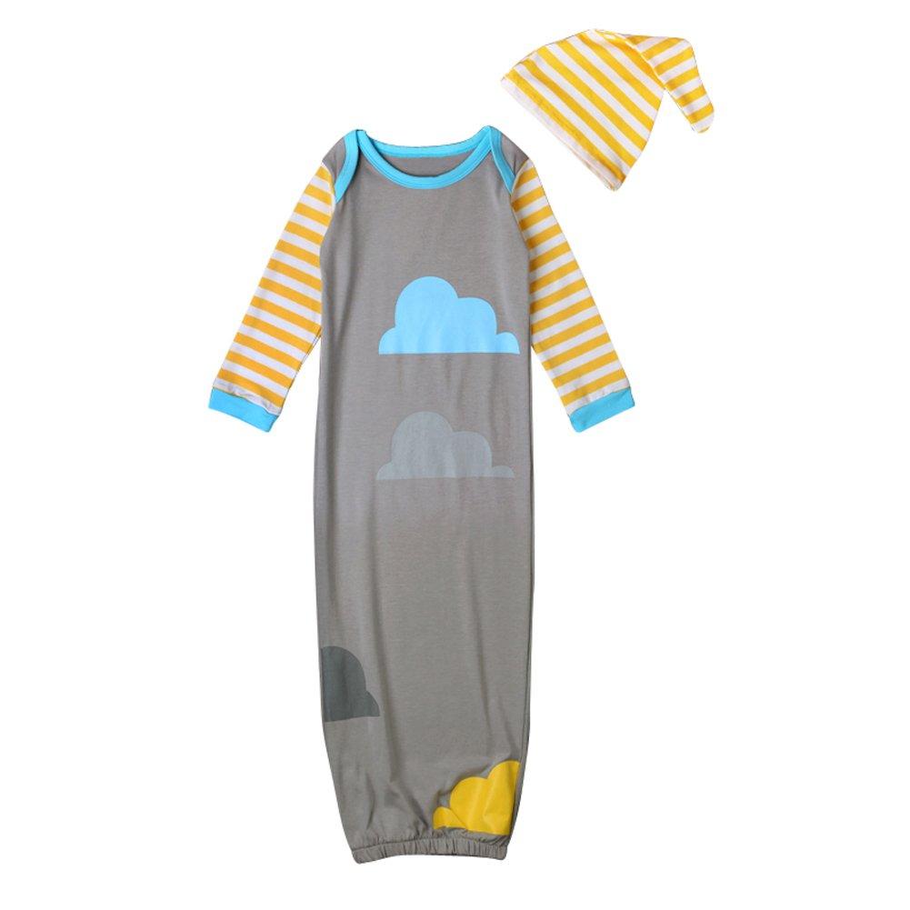 【史上最も激安】 EITC Baby Cotton Sleeping Bag Cotton Wearable Blanket Long Baby Sleeve EITC Sleep Gown with Hat Cloud Pattern B01M19EDL7, ガーデニングどっとコム:4e13896a --- a0267596.xsph.ru