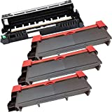4PK-3 Inkfirst® High Yield Toner Cartridges + 1 Drum Unit TN-660 DR-630 Compatible Remanufactured for Brother TN-660 DR-630 (3 toner + 1 drum) MFC-L2700DW MFC-L2720DW MFC-L2740DW HL-L2300D HL-L2305W HL-L2320D HL-L2340DW HL-L2360DW HL-L2380DW