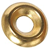 The Hillman Group 1257#8 Brass Countersunk Finishing Washer 48-Pack