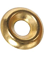 The Hillman Group 1251#8 Brass Plated Countersunk Finishing Washer 80-Pack