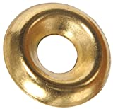 The Hillman Group 7621 Brass Finish Washer, 6-Pack